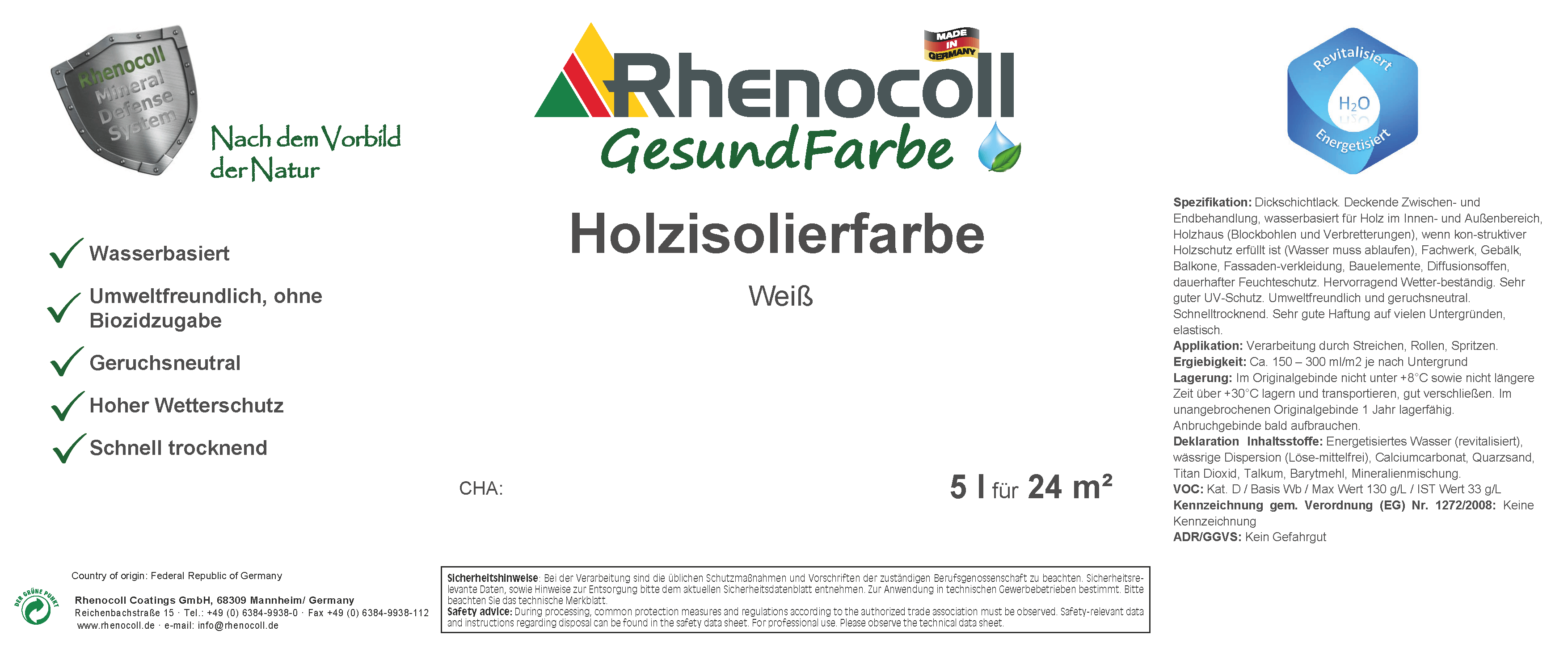 Holzisolierfarbe